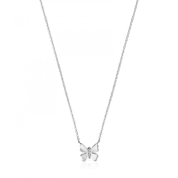 Tous Silver Vita Butterfly Necklace 918532520