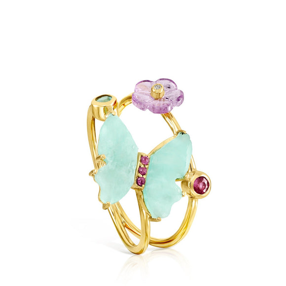 Tous Vita butterfly ring in Gold with Gemstones 918535000