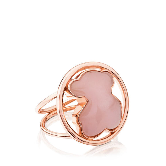 Tous Silver Camille Ring with Rose Quartz 712165620