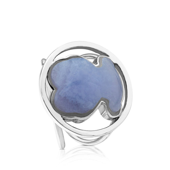 Tous Silver Camille Ring with Chalcedony 712165561