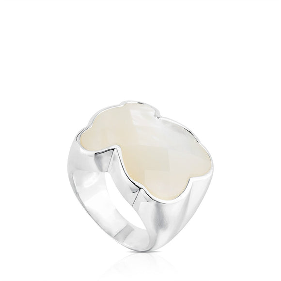 Tous Silver Color Ring with mother-of-pearl 815115500