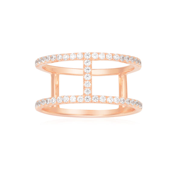 APM Pink Silver Ring R16876OX