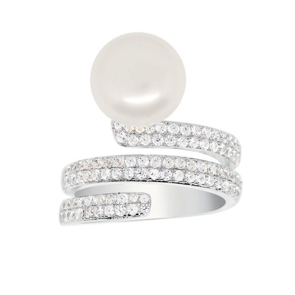 APM Silver Ring With Pearl A16274XPL