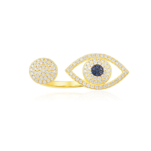 APM Blue Eye Original Ring - Yellow Silver A16766OXY