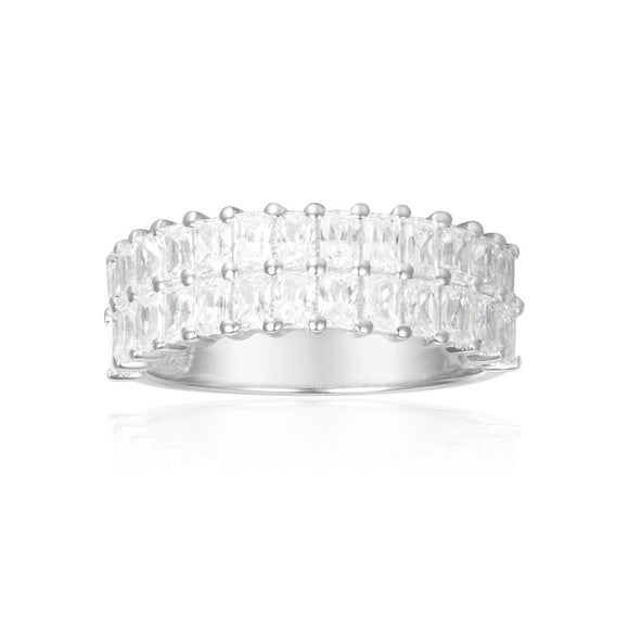APM Sparkling Double Ring - Silver A17636OX