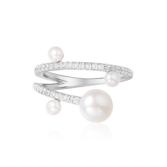 APM Silver Ring With Pearl A17756XPL
