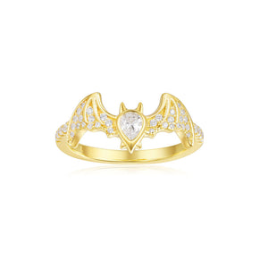 APM Yellow Silver Flying Bat Ring A18507OXY