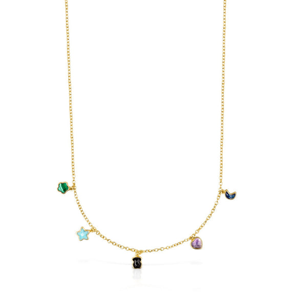 Tous Glory Necklace in Gold Vermeil with Gemstones 918592520