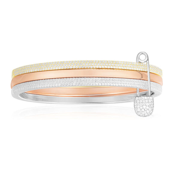 APM Trio Silver Bangle AB3342TRH