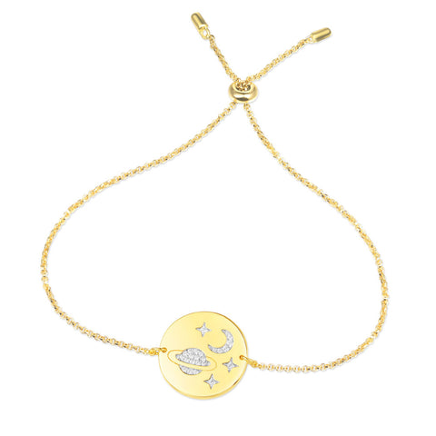 APM YELLOW SILVER MINI GALAXY BRACELET   AB3525OXY