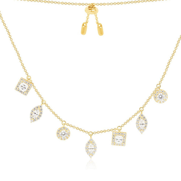 APM NECKLACE GOLD AC3179OXY