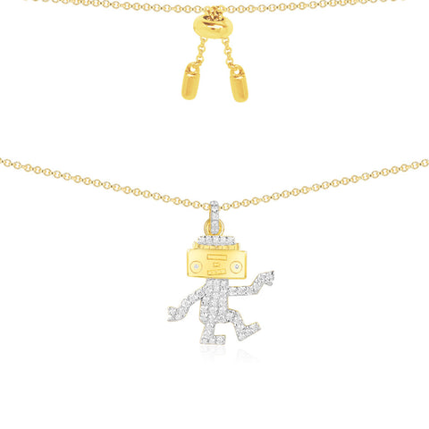 APM NECKLACE DANCING ROBOT AC3916OXY