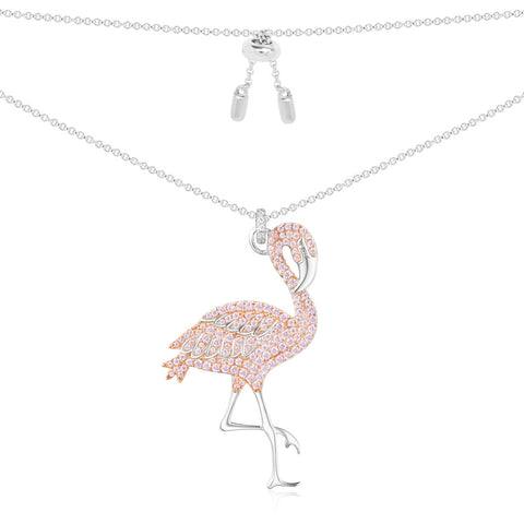 APM NECKLACE Pink Flamingo Asymmetric AC3922XORW