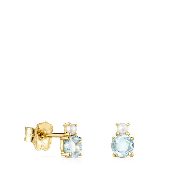 Tous Mini Ivette Earrings in Gold with Topaz and Pearl 912193050