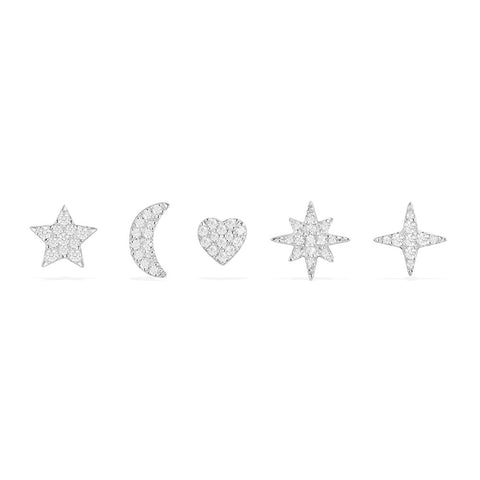APM NIGHT SKY STUD EARRINGS SET   AE10730OX