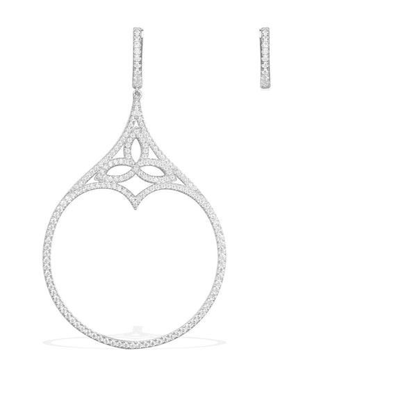 APM Silver Gothic Asymetric Earring AE9762OX