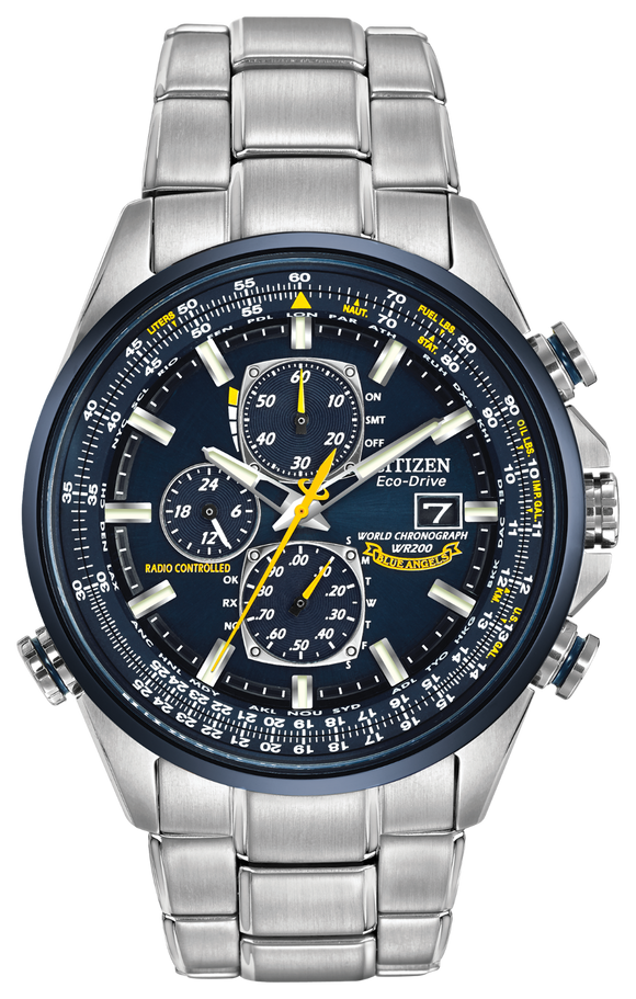 Citizen Men Watch Blue Angels World Chronograph AT8020-54L