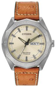 Citizen Men Leather Watch AW0060-11P