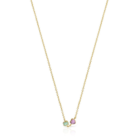 Tous Glory Necklace in Vermeil Silver with Amazonite and Amethyst 918592500