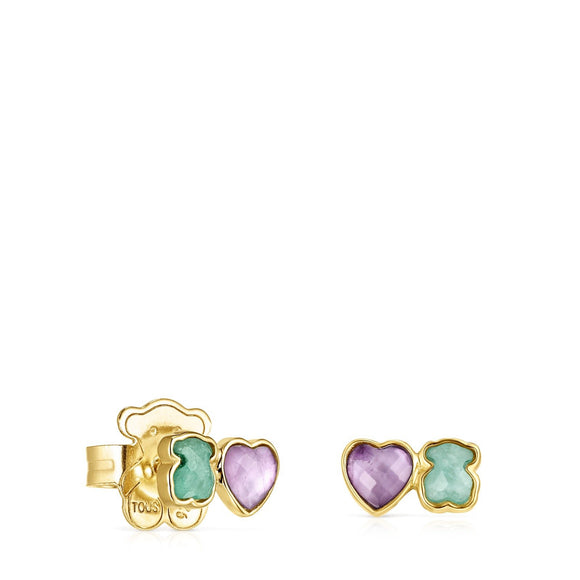 Tous Glory Earrings in Vermeil Silver with Amazonite and Amethyst 918593550