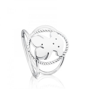 Tous Silver Camee Ring 712325610
