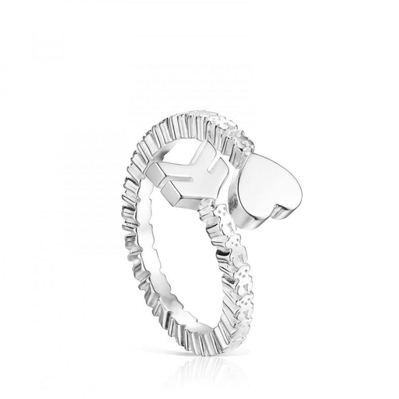 Tous Silver San Valentín arrow open Ring 915305520