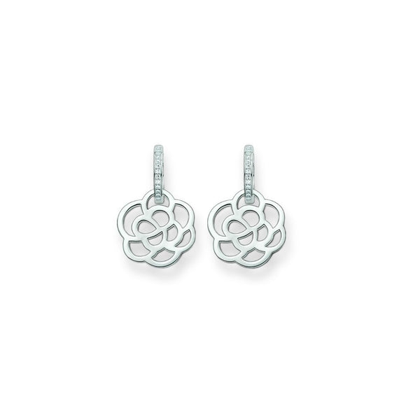 Thomas Sabo Silver Flower Hoop Earrings CR574-051-14