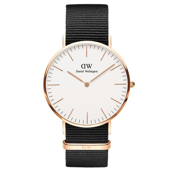 Daniel Wellington Men's DW00100257 Cornwall Black Nylon Watch