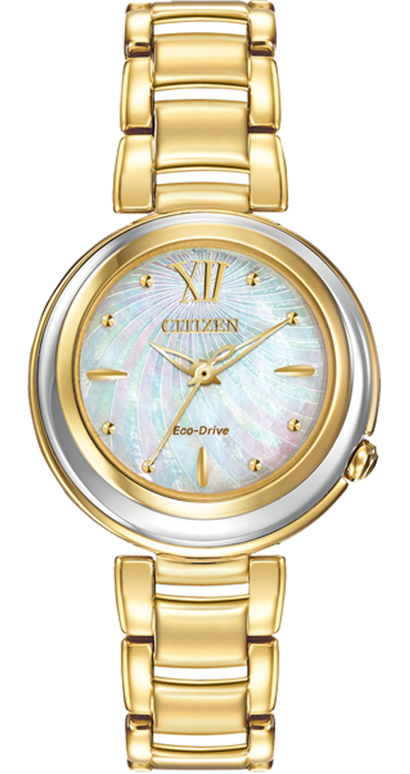 Citizen Women Diamond Watch Gold EM0334-54D