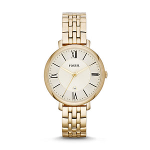 FOSSIL LADY WATCH JACQUELINE GOLD-TONE STAINLESS STEEL WATCH ES3434