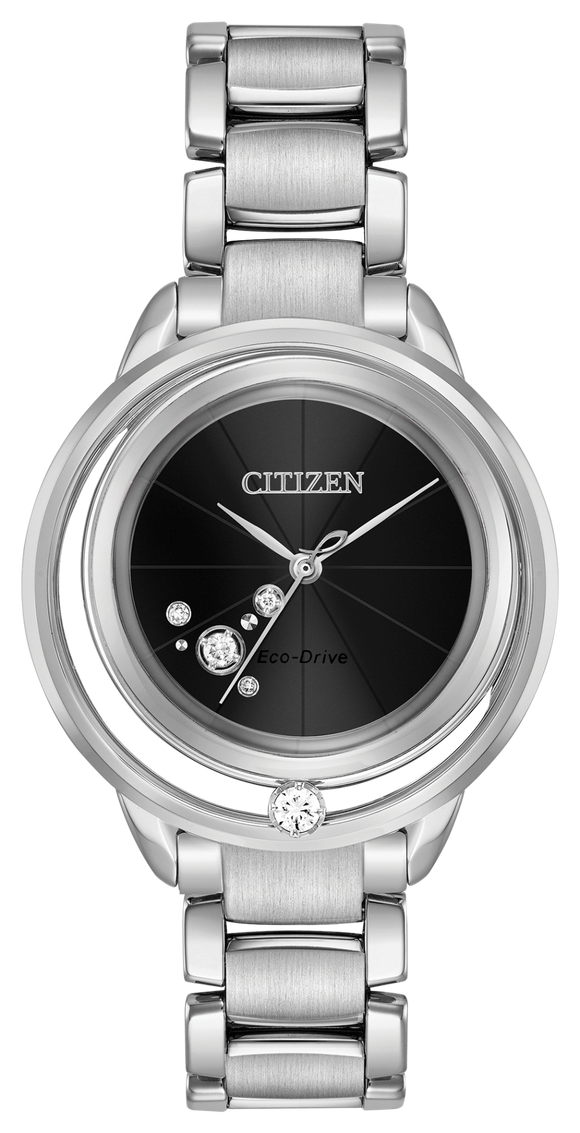 Citizen Diamond Watch Women L Sunrise Solitar EW5520-50E