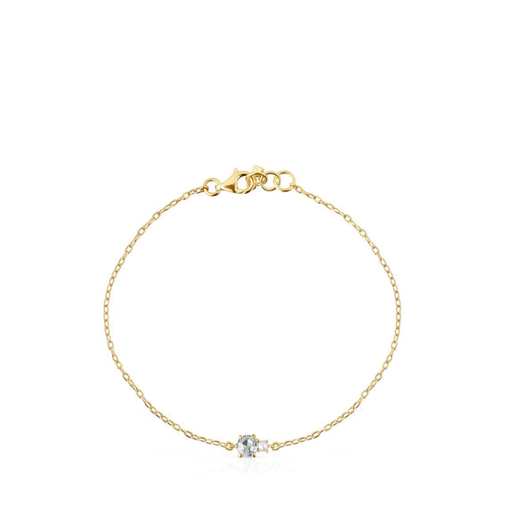 Tous Mini Ivette Bracelet in Gold with Topaz and Pearl 912191040