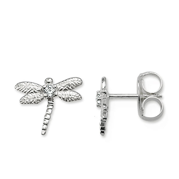Thomas Sabo Sterling Silver Dragonfly Ear Studs H1736-051-14