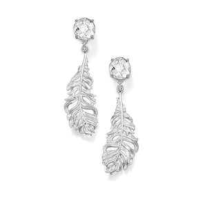 Thomas Sabo Classic Silver Feather Drop Earrings H1749-051-14