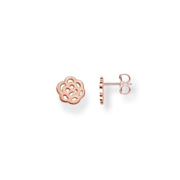 Thomas Sabo Jewellery Earstuds 925 Sterling Silver Gold Plated Rose Gold H1783-415-12