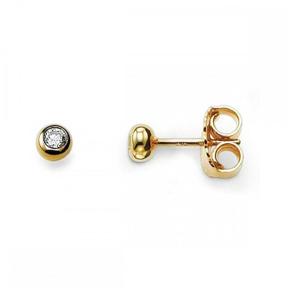 Thomas Sabo Yellow Gold Small Bezel Set Studs H1819-414-14