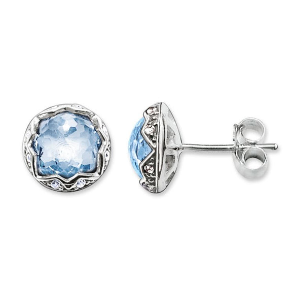 Thomas Sabo Blue Spinel Purity of Lotos Ear Studs H1828-644-1