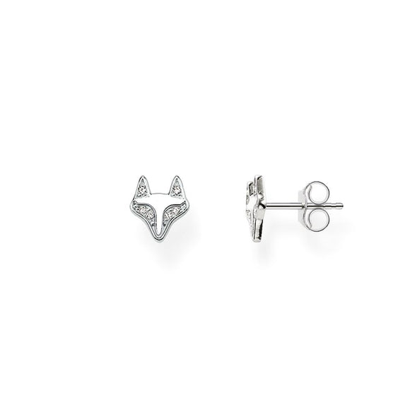 Thomas Sabo Silver Pave Fox Stud Earrings H1873-051-14