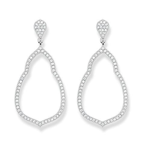 Thomas Sabo Glam And Soul Sterling Silver Fatima's Garden Earrings H1900-051-14