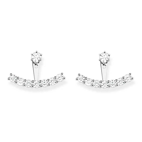 Thomas Sabo Silver Cubic Zirconia Earrings Jackets H1904-051-14