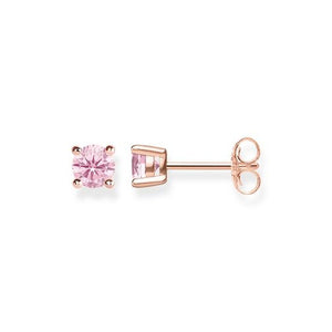 Thomas Sabo Pink Stone Claw Set Stud Earrings - Pink/Rose Gold H1965-416-9