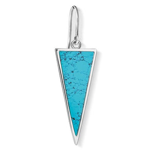 "Thomas Sabo Earring ""Triangle Turquoise"" H2013-499-17"
