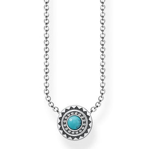 Thomas Sabo Necklace Ethnic Turquoise KE1672-878-17-L45V