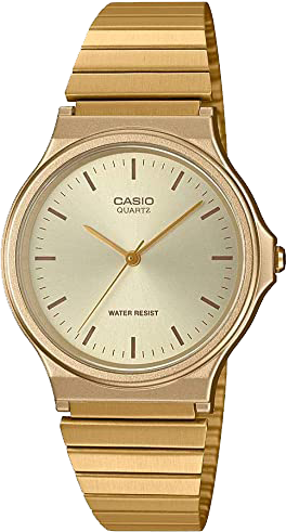Casio Men's Casual Classic Quartz Stainless-Steel Strap, Gold, 18.8 Watch MQ-24G-9ECF
