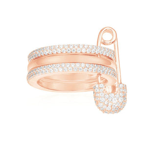 APM Pink Silver Ring R17064OX