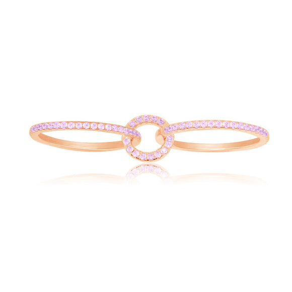 APM Pink Silver Ring R17327OR