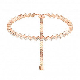 APM Pink Silver Up And Down Bracelet RB3363OX