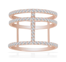 apm Croisette Rose Gold Ring R14726OX