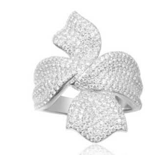 APM Silver Christmas Ribbon Ring A17569OX