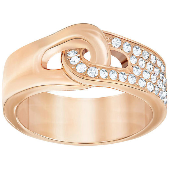 Swarovski Gallon Ring, White, Rose Gold Plating 5293774